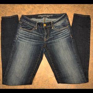 American Eagle Jegging Dark Wash Jeans -Sz. 4 Long
